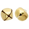 Jingle Bells Round 15mm Gold